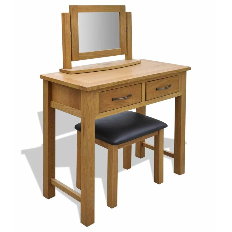Roseville Oak Dressing Table With Mirror