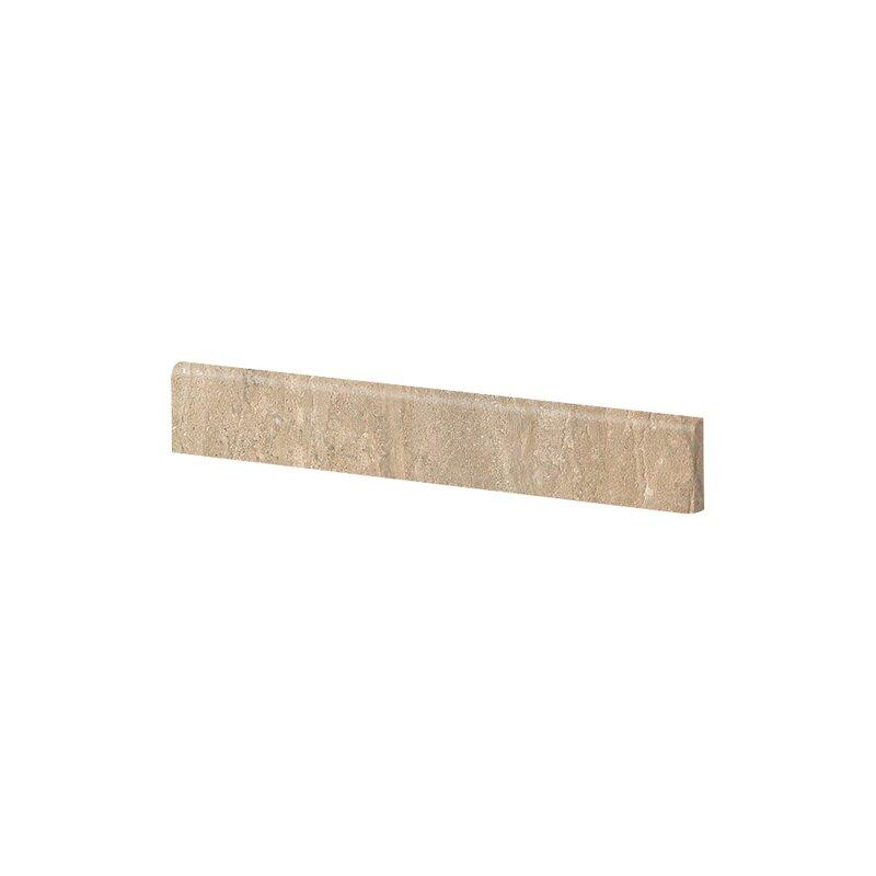 "Travertini 3.188"" x 16.75"" Porcelain Wood Tile in Matte Walnut"