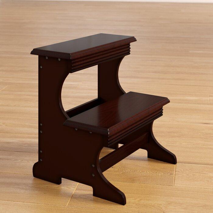 Crestside 2 Step Wood Stool With 200 Lb Load Capacity