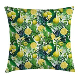 Jungle Exotic Plants Green Leaf Pillow Cover