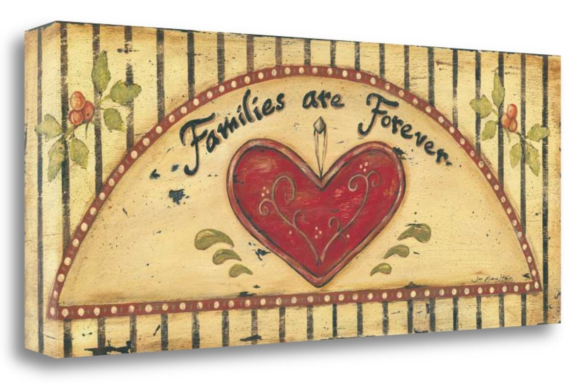 Alcott Hill \'Families are Forever\' by Jo Moulton Framed Acrylic ...
