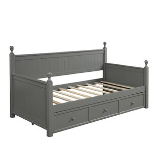Berge Wood Twin Daybed with 2 Drawers by Harriet Bee