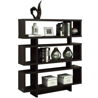Turn on the Brights Aleksandra Geometric Bookcase Finish: Cappuccino