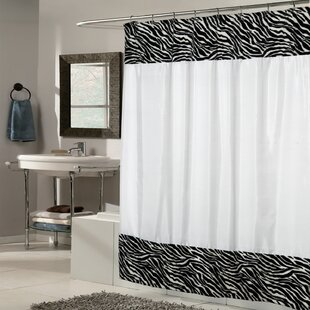Zebra Fabric Single Shower Curtain
