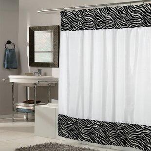 Zebra Fabric Single Shower Curtain