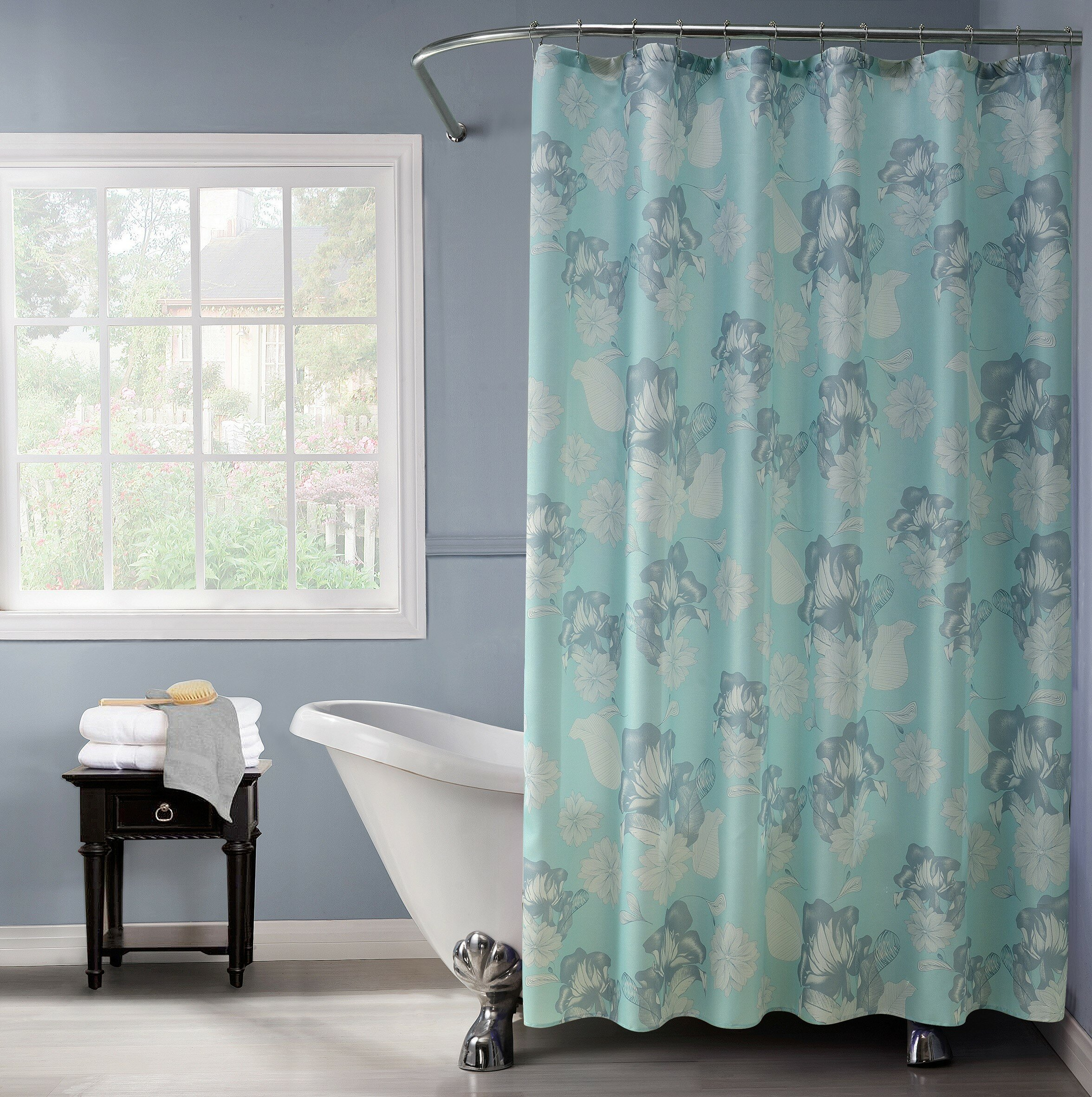 Charlton Home Rexdale Printed Shower Curtain Set | Wayfair