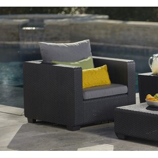 Halloran Patio Chair with Sunbrella Cushions By Ivy Bronx