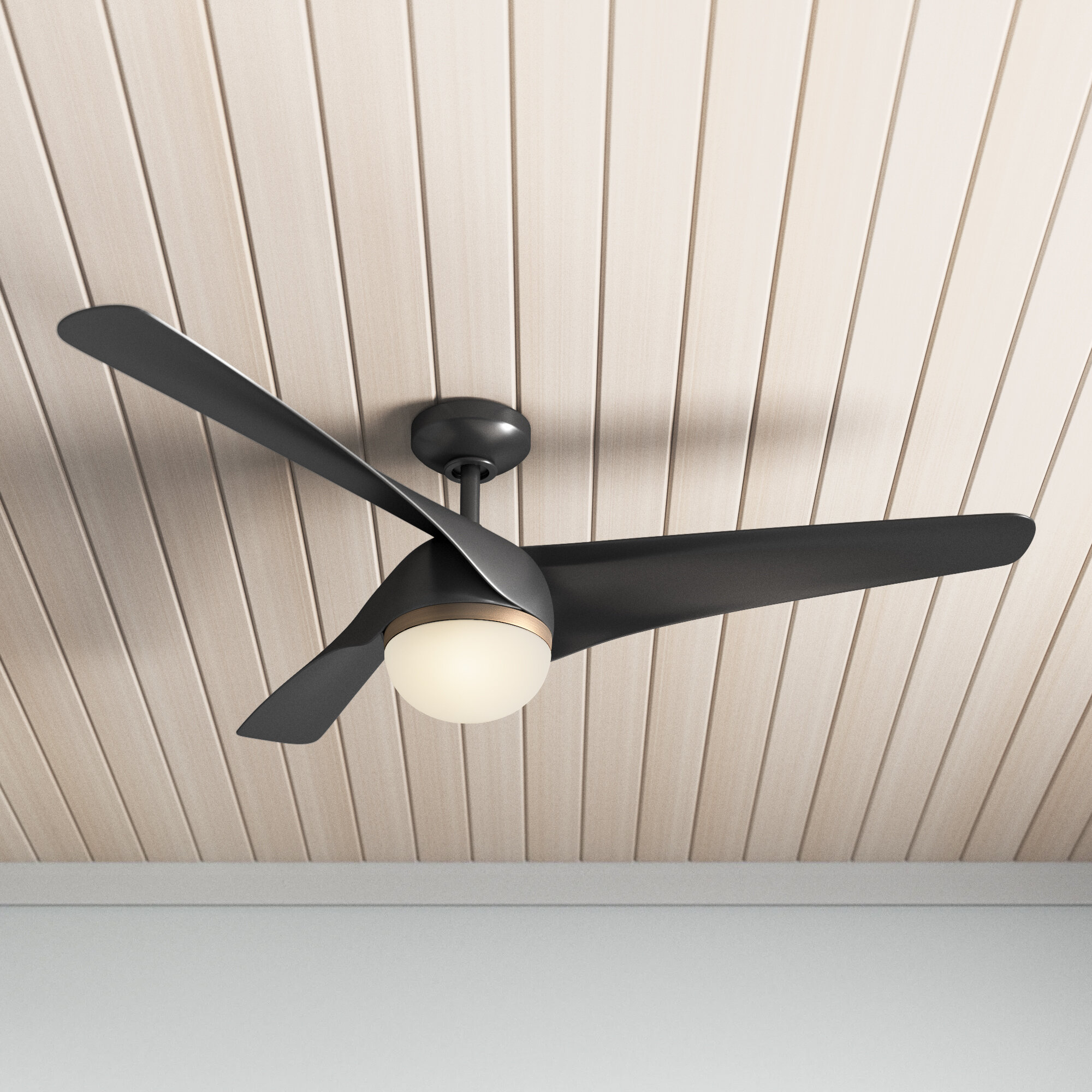 Allmodern 56 Almeida 3 Blade Led Propeller Ceiling Fan With Remote Control And Light Kit Included Reviews Wayfair