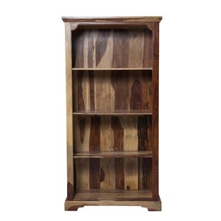 Staley Solid Sheesham Wood Standard Bookcase by Loon Peak Comparison