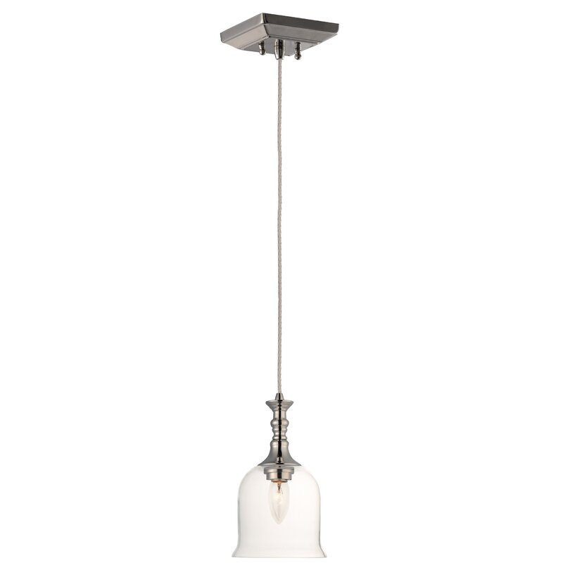 Bryton 1 Light Single Bell Pendant Reviews Birch Lane