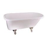 Anthea 60 x 30 Clawfoot Soaking Bathtub by Barclay