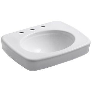 Compare prices Bancroft® Ceramic 24 Pedestal Bathroom Sink By Kohler