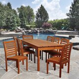 Nya International Home Outdoor 9 Piece Dining Set
