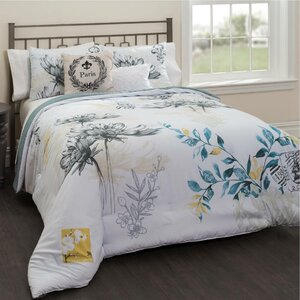 Lyon 5 Piece Reversible Comforter Set