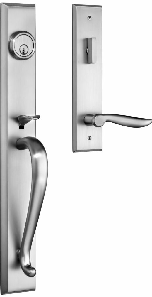 Rockwell Security Premium Carmel Handleset With Single Cylinder Deadbolt And Door Lever And Rosette Wayfair