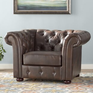 Minnie Chesterfield Chair by Three Posts