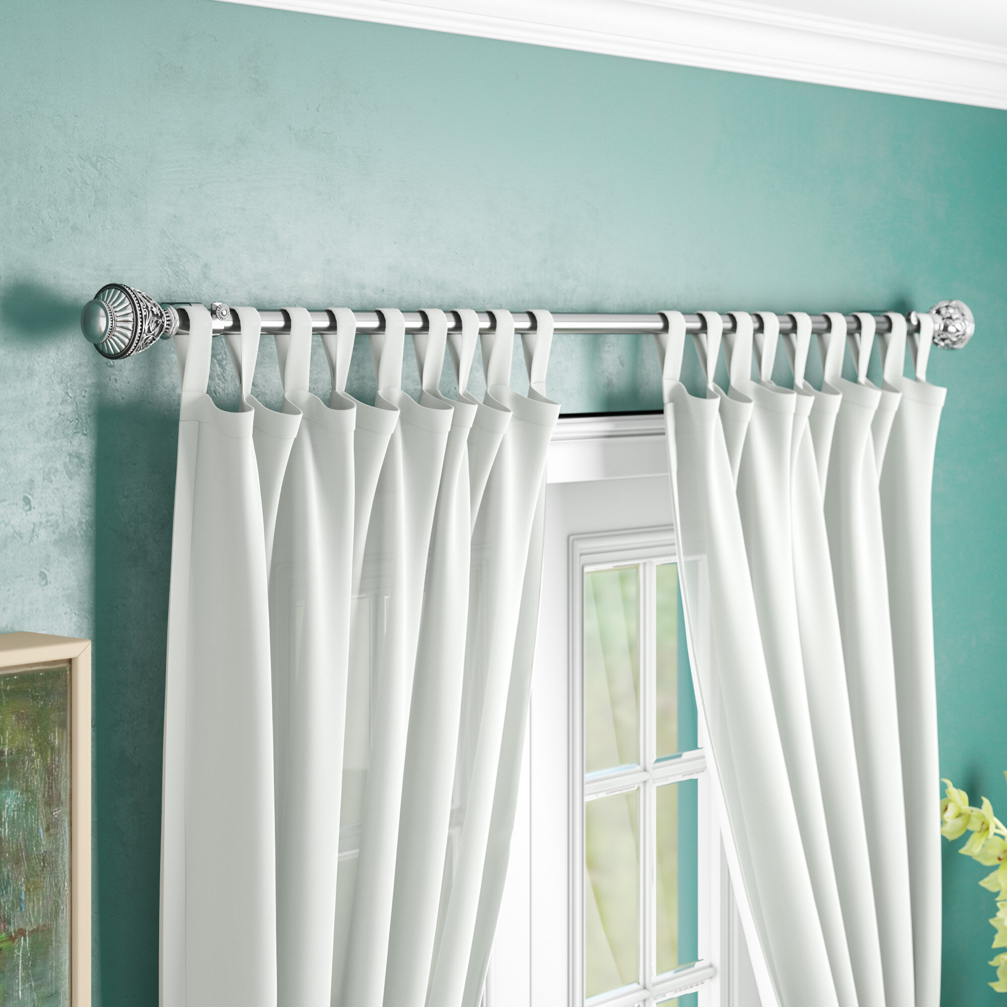 Astoria Grand Dewitt Single Curtain Rod Reviews Wayfair