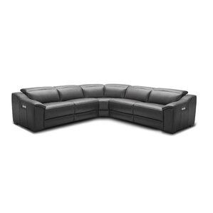 Ozzy Motion Leather Reclining Sectional by O..