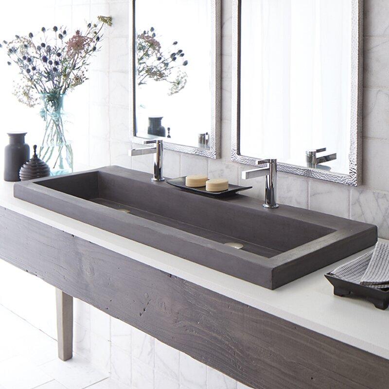 Rectangular Trough Bathroom Sink