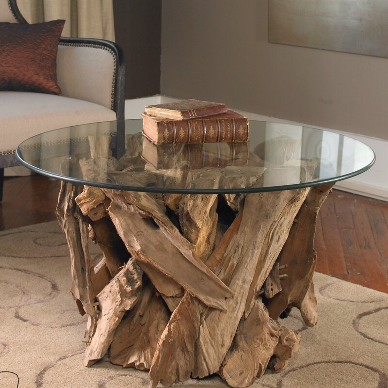 Union Rustic Cindi Driftwood Coffee Table & Reviews