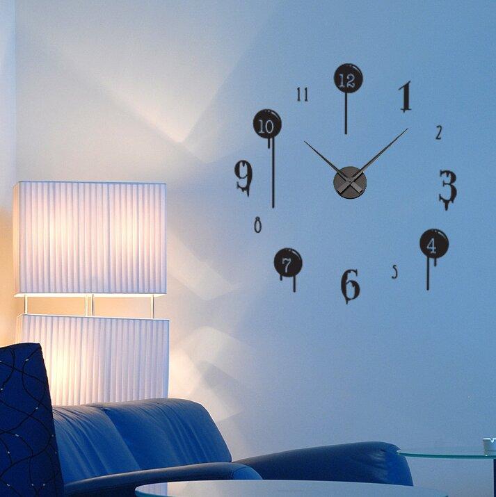 Style And Apply Drip Wall Clock Wall Decal Wayfair