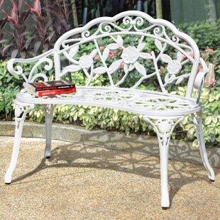 Alderson Vintage Rose Metal Garden Bench