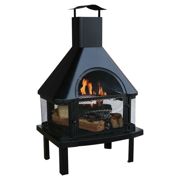 Uniflame Steel Wood Burning Outdoor fireplace & Reviews | Wayfair