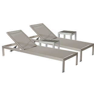 Belterra 2 Chaise Lounge Set with Table