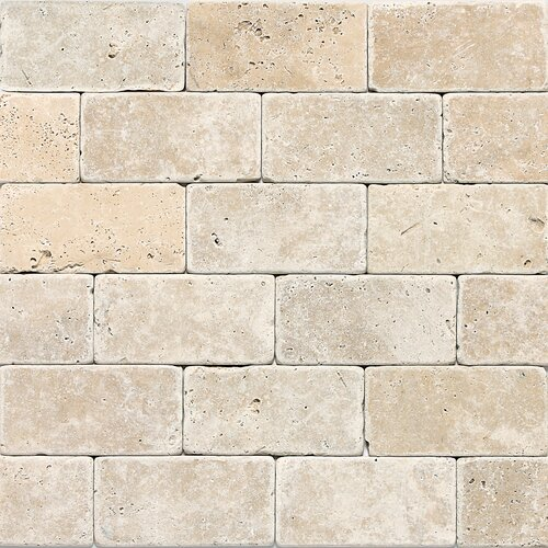 "Georgia 3"" x 6"" Travertine Field Tile in Mediterranean Ivory"