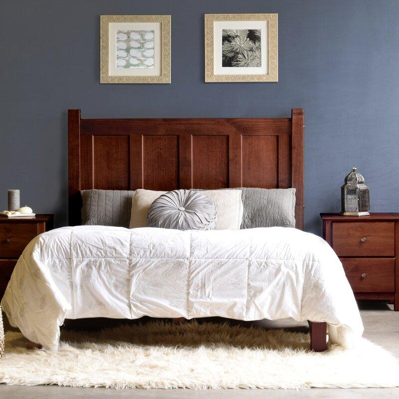 grain wood furniture shaker platform bed & reviews | wayfair