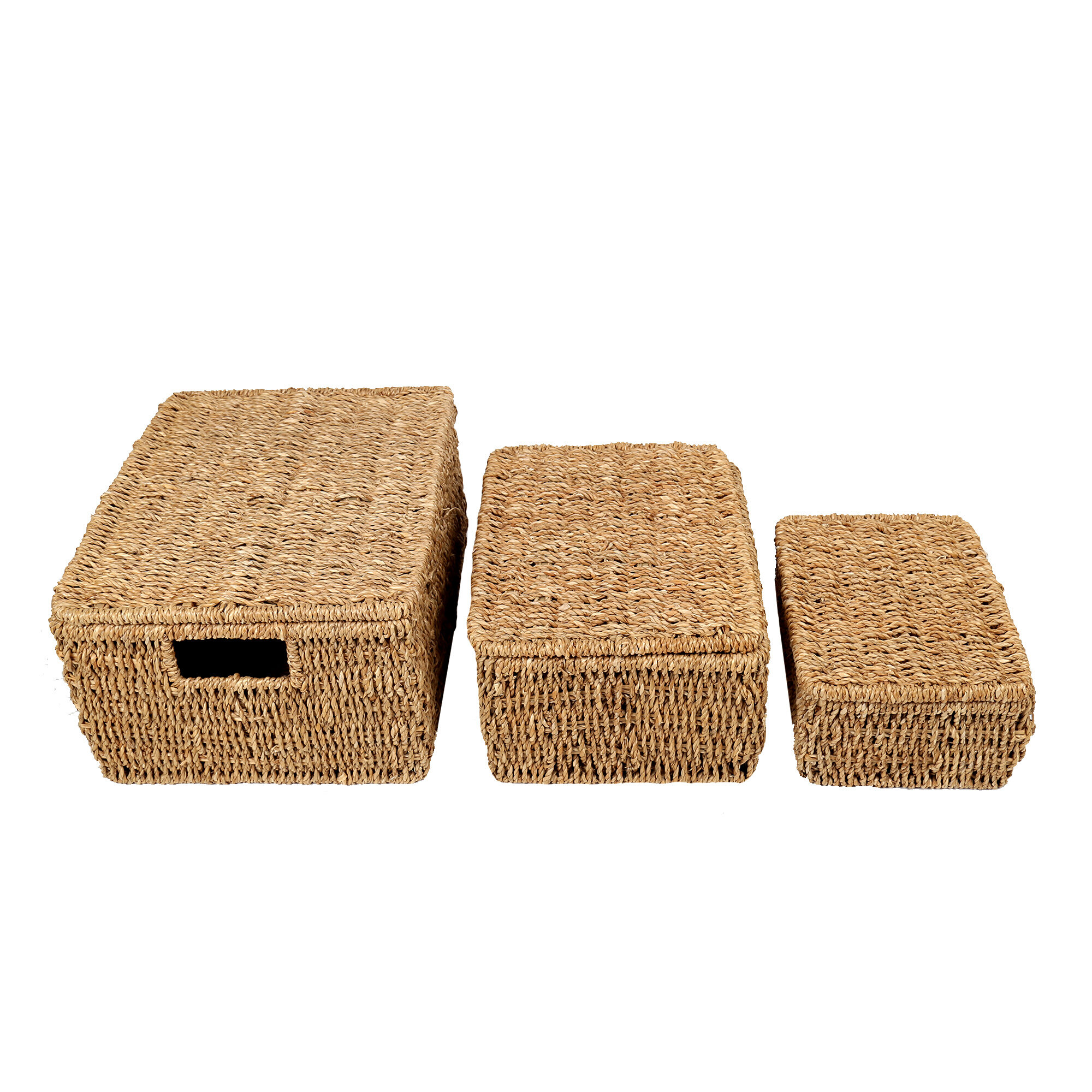 Bay Isle Home Storage Seagrass Wicker Box Set | Wayfair