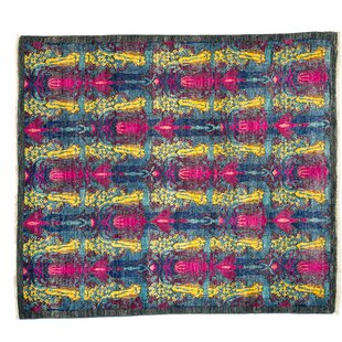 Clearance One-of-a-Kind Suzani Hand-Knotted Multicolor Area Rug By Darya Rugs