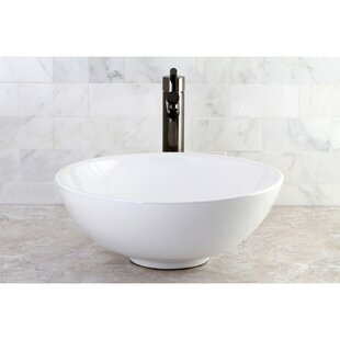 Savings Serene Ceramic Circular Vessel Bathroom Sink By Kingston Brass
