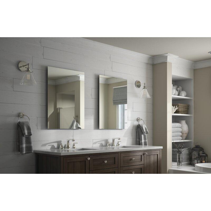 Delta Rectangular Standard Float Mount Frameless Bathroom Vanity Mirror Reviews Wayfair