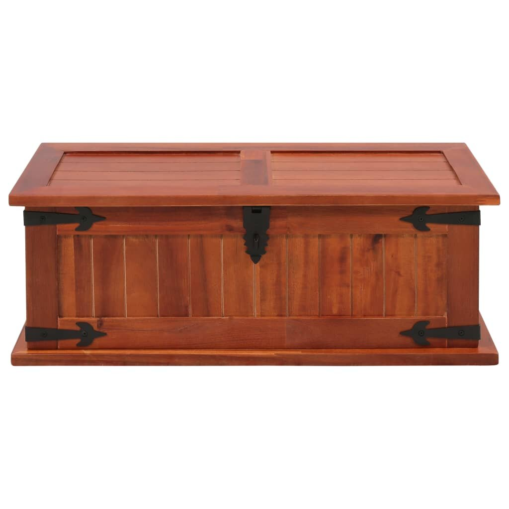 Millwood Pines Minnich Solid Acacia Wood Toy Box Wayfair