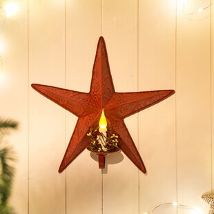 Iron Star Wall Sconce with LED