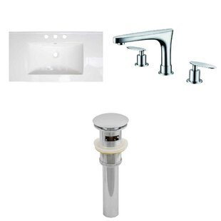 Latshaw 32 Single Bathroom Vanity Top and Overflow Drain by Alcott Hill