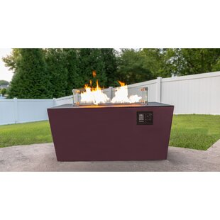 Echo Aluminum Propane/Natural Gas Fire Pit Table by Music City Fire Company Cool