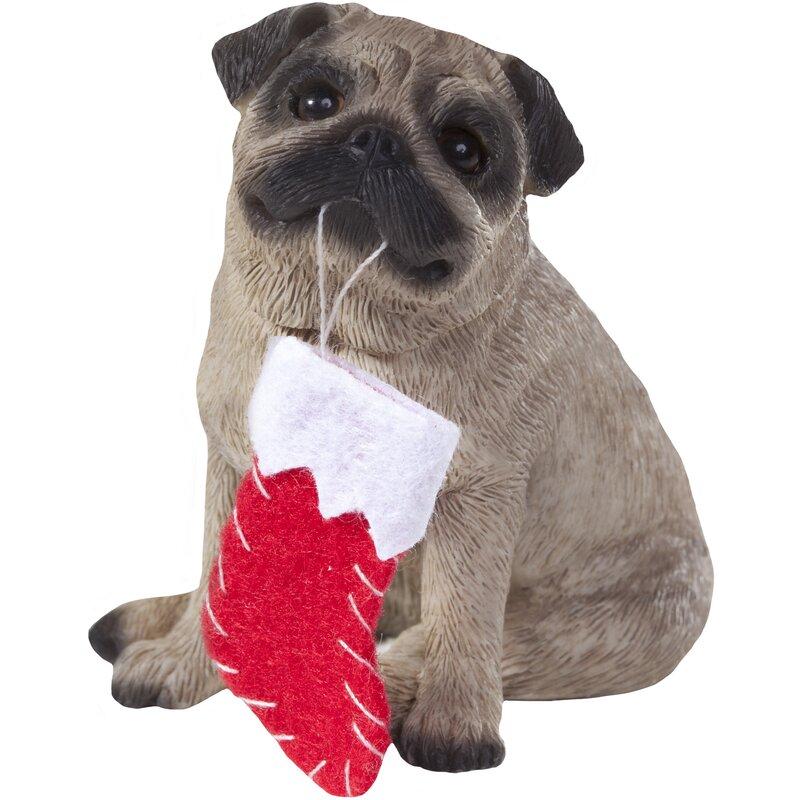 Sandicast Pug Christmas Tree Ornament Reviews Wayfair
