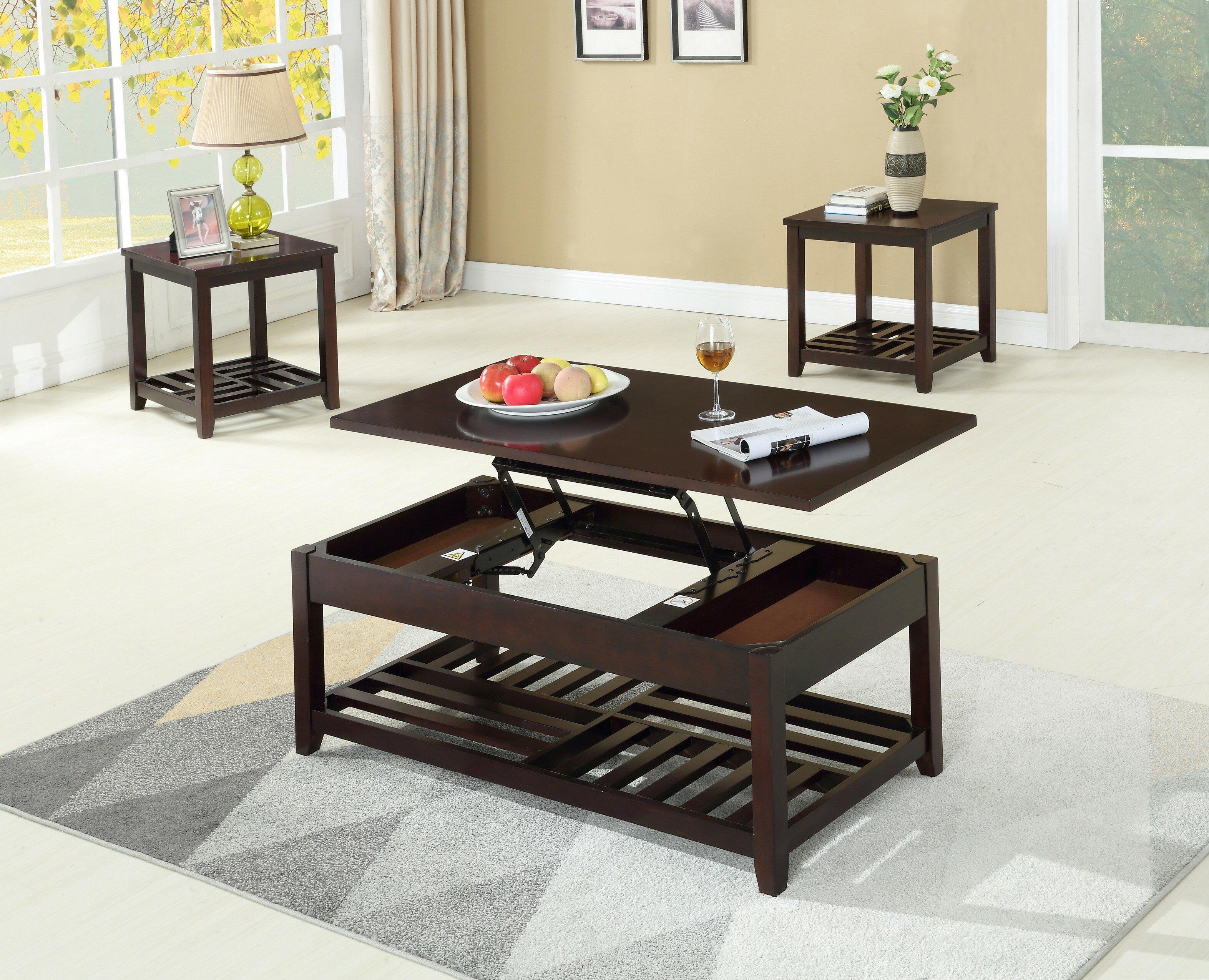 Canora Grey Rockville 3 Piece Coffee Table Set Wayfair
