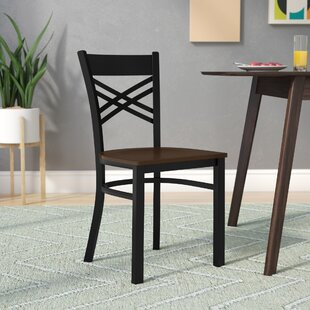 MacArthur Coated ''X'' Back Metal Restaurant Side Chair Ebern Designs