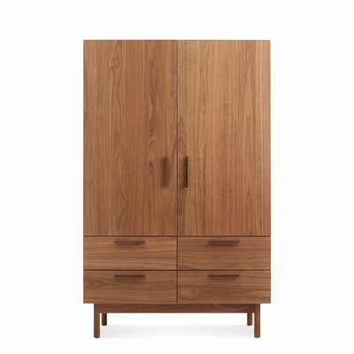 Blu Dot Shale Wardrobe Color: Walnut