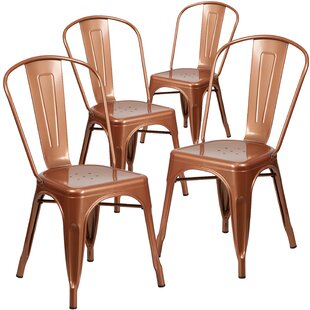 Armless Stacking Dining Chair (Set of 4)