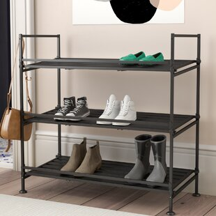 Reviews 9 Pair Shoe Rack By Rebrilliant