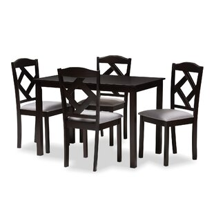 Yarmouth 5 Piece Dining Set Winston Porter
