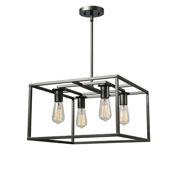 Williston Forge Raeann 4 Light Square/Rectangle Chandelier & Reviews by Williston Forge
