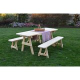 Smyrna Solid Wood Picnic Table