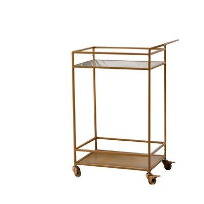 Willa arlo interiors adalgar bar cart frame color gold - Willa arlo interiors keeley bar cart ...