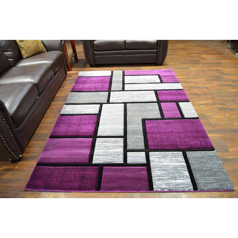 Ivy Bronx Mccampbell Purple Gray Area Rug Reviews Wayfair