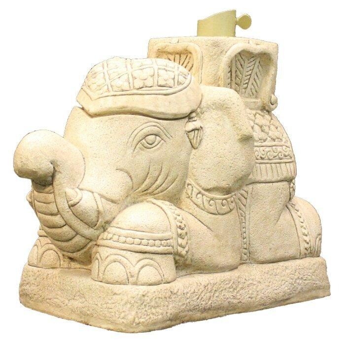 Greatest EyeLevel Raja Elephant Patio Umbrella Stand | Wayfair MK12